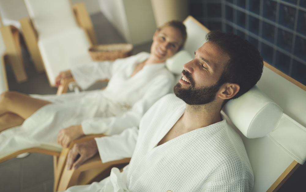 a couple at a spa