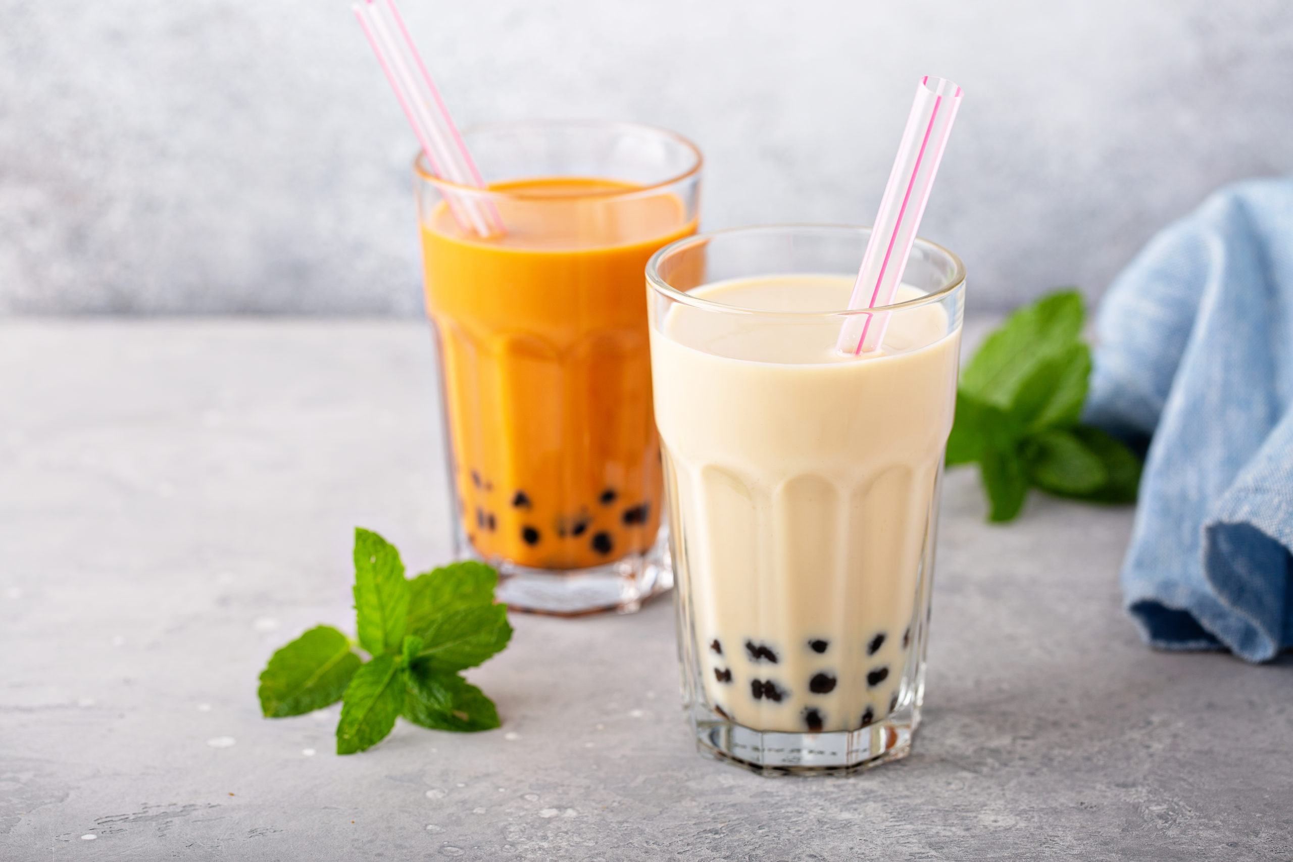 Glasses of bubble tea | bubble tea in germantown