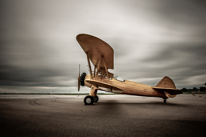 A propellar plane on a runway | National Air and Space Museum